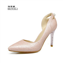 9619d0326d68 Women Summer PU Leather Point Toe Dazzle with Brilliance High Heels Ladies  Party Sandals Women High · 3 Colors Available