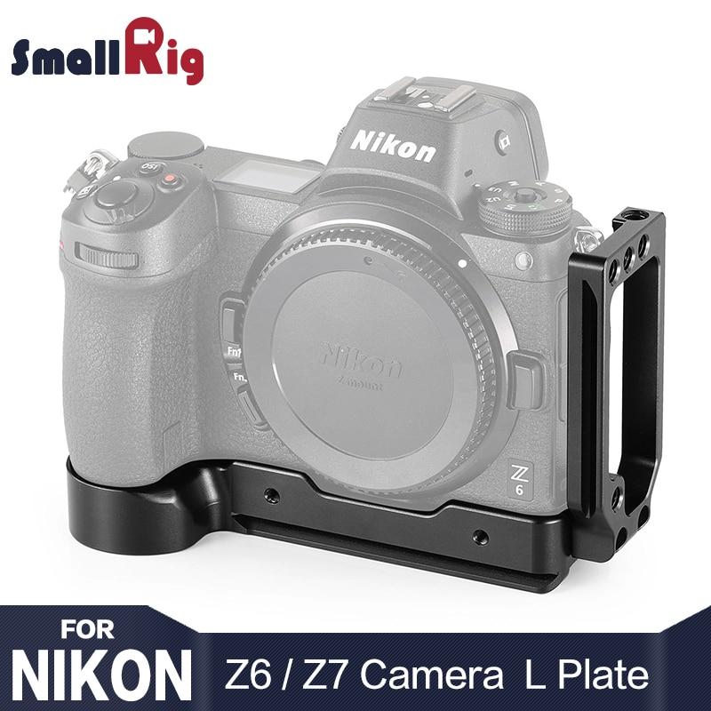 Support en L pour Nikon Z6 et pour appareil photo Nikon Z7 avec plaque en queue d'aronde compatible Arca apl2258