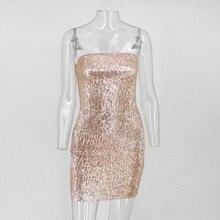 Off Shoulder Strapless Sequin Mini Dress SR01