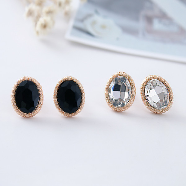 New Gold Silver Fashion Of High End Oval Gl Ear Clip Gifts Crystal Earrings Jewelry Earings For Non Pierced Ears In From