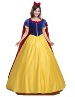 2016 Adult Custom made Snow White Princess Cosplay Costume For Parties