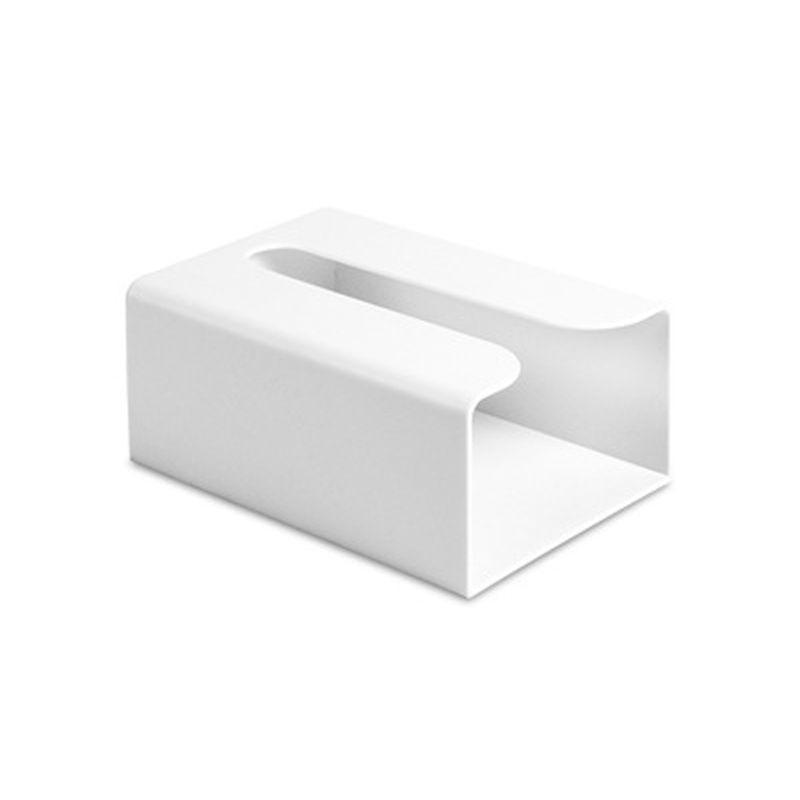 Настенная самоклеющаяся коробка для салфеток, держатель для салфеток, пластиковый мешок для мусора, Диспенсер, стеллаж для хранения, автомобильный подвесной органайзер Kicthen - Цвет: White
