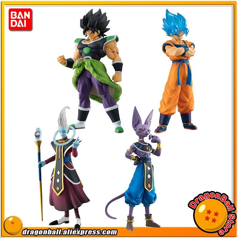 Dragon Ball SUPER Original BANDAI HIGH GRADE REAL FIGURE Gashapon Toy 02 Set A 4 Pieces Broly Goku Beerus Whis