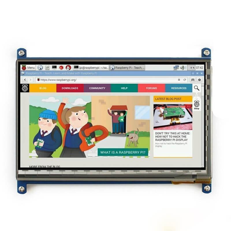 Elecrow Raspberry Pi 3 pantalla 7 pulgadas pantalla táctil HDMI HD LCD TFT 1024x600 Monitores para frambuesa Pi 3 2B B pcduino win7 8
