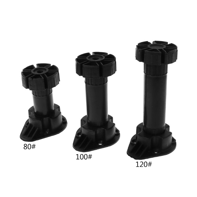 4pcs Adjustable Height Cupboard Foot Cabinet Leg For Kitchen Bathroom 80mm(to 100mm), 100mm(to 120mm), 120mm(to 150mm)