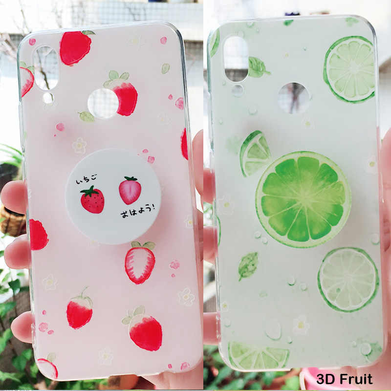 Fruit Case for Huawei y9 2019 y7 prime y6 y9 2018 Huawei Mate 20 pro p10 honor 9 10 Lite p8 lite 2017 nova 3 3i 3e Case Holder