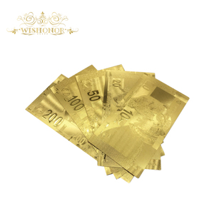 5Pcs/Lot One Set Of South Africa Banknote 10 20 50 100 200 Rand Gold Banknote With 99.9% Gold Foil For Gifts