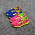2016 Big children Soft bottom kids students sports running Mesh hollow flat sneakers Boys girls sandals sneakers 27-30-32-34-36