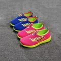 2016 Grandes crianças fundo Macio crianças estudantes sports correndo Malha oco sneakers planas sandálias Meninos meninas sneakers 27-30-32-34-36