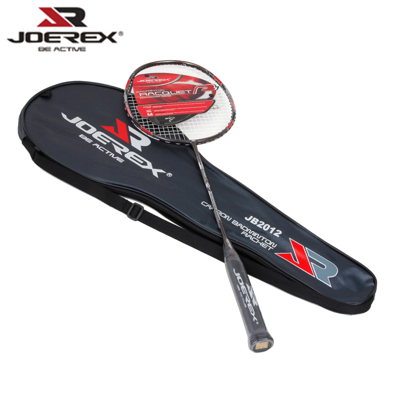 Joerex Full Carbon Professional Badminton Rackets Light Weight Carbon Badminton Rackets raquette de badminton full carbon fiber badminton rackets exceed light 8u 62g offensive defensive dual use single racquets with stringing q1253cmc