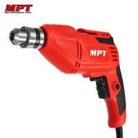 MPT MED4006 10mm Trapano Elettrico 3000 rpm Mini Trapano A Mano Cacciavite Driver 400 W Macchina di Perforazione Lavorazione Del Legno Strumento di Potere accessori