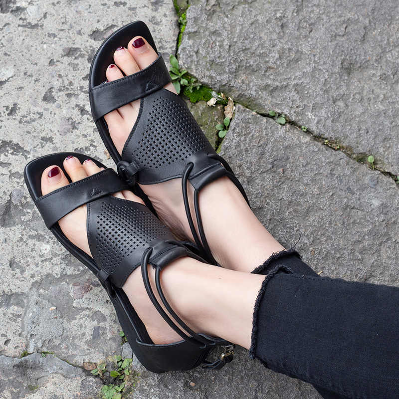 Roma Tarzı Rahat Kadın Düşük Topuk Sandalet Yaz 2019. Sandalias Mujer Gladyatör Kadın Sandalet Hakiki Deri