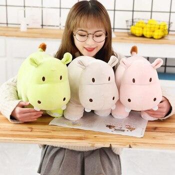 цена на Plush Hippo Toys Cute Stuffed animal doll kawaii horse lovely appease pillow Christmas birthday gift for children Home decoer