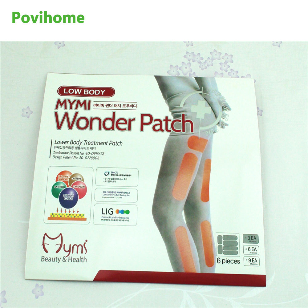 Povihome 36Pcs Mymi Slim Patch Wonder Patch Lower Body Treatment Slimming Plaster Lose Weight Burning Fat Leg Patch D0719