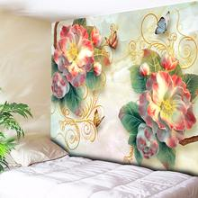 3D Psychedelic Butterfly Tapestry Wall Hanging Bohemian Flowers Hippie Mandala Decorative Wall Tapestry Hanging Boho Wall Cloth butterfly water print waterproof wall tapestry