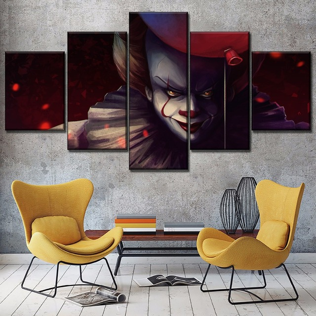 Home Wall Decorative 5 Pieces Balloon Clown Movie It Pennywise