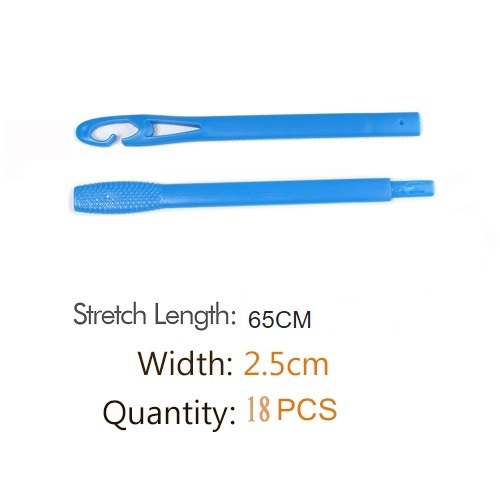 18pcs/set 65cm long krullen bigudies para pelo diameter 2.5cm cachos rulos para rizar cabello hair curlers rollers  hair roller