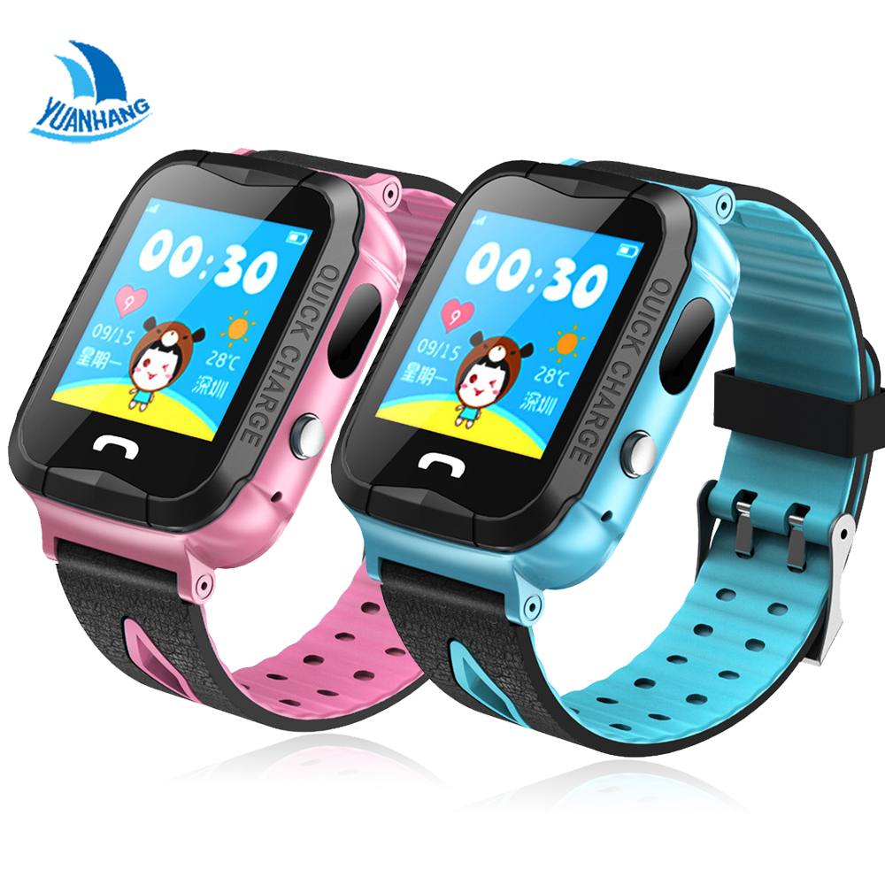 Yuanhang IP68 Waterproof Smart GPS LBS Location Touch Screen SOS Call Remote Monitor Camera Wristwatch Tracker Kids Child Watch