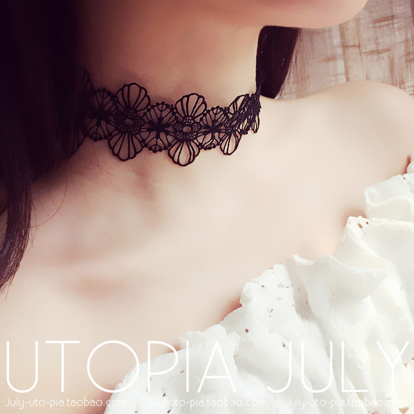 choker necklace 2016 summer maxi necklace lace bohemian necklace  Necklaces & Pendants accessories collar bijoux  C433