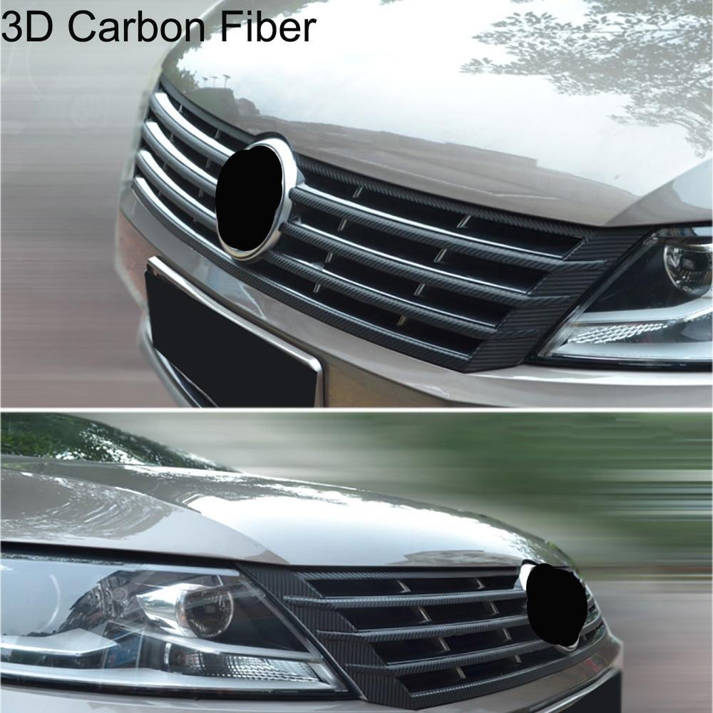 Углеродная фотопленка для защиты переднего бампера, автомобильные наклейки и наклейки, Стайлинг автомобиля для VW Volkswagen CC 2013-16, аксессуары