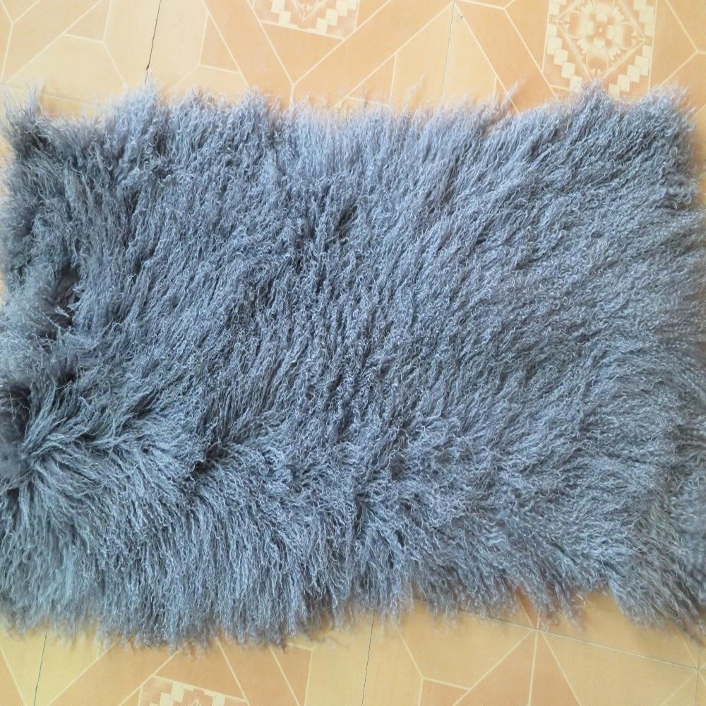 Genuin Mongolian Fur Rug Real Plate