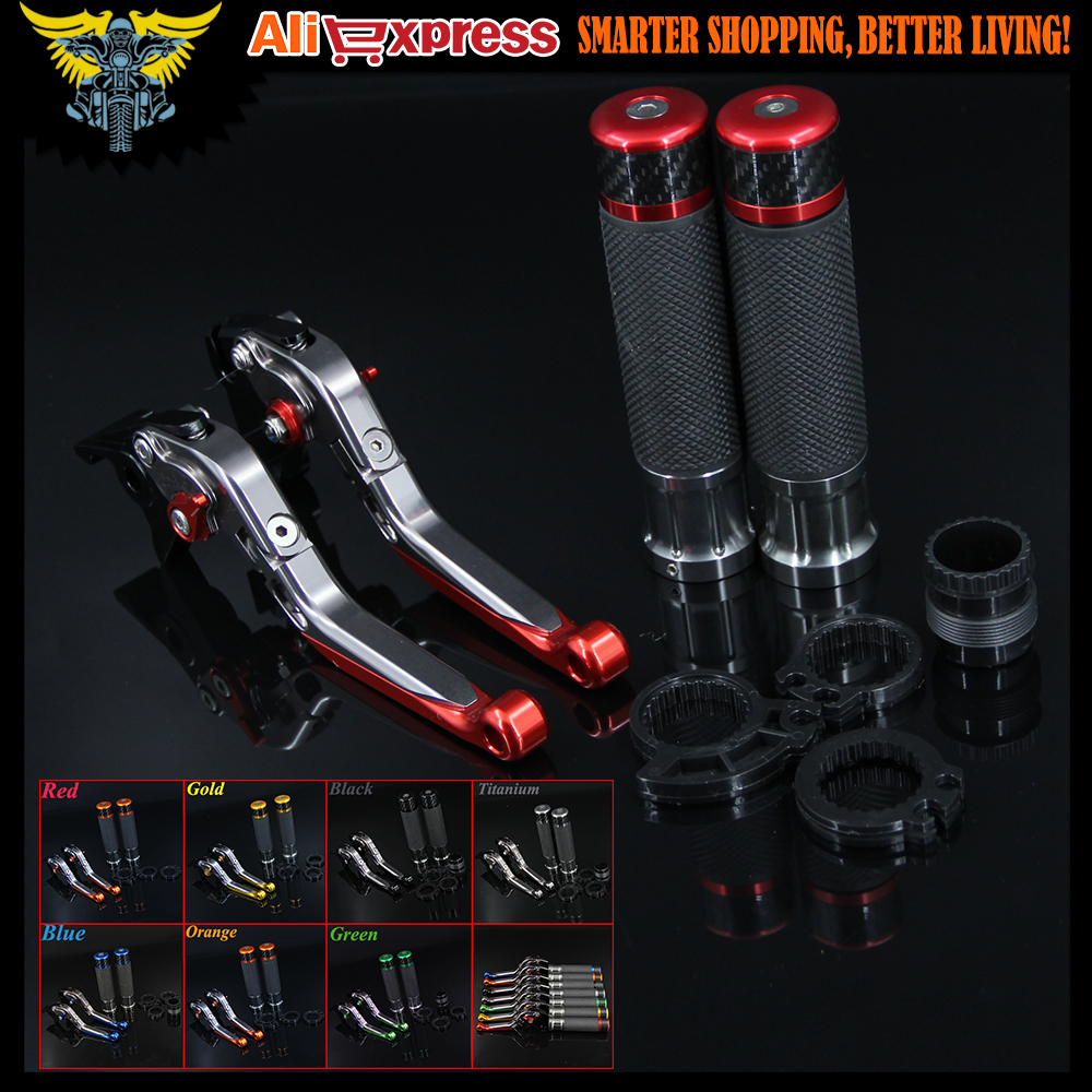 7 Colors CNC Motorcycle Brake Clutch Levers and Handlebar Hand Grips For Ducati 1098/S/Tricolor 848 /EVO MULTISTRADA 1200/S/GT hot sale motorcycle accessories cnc adjustable folding brake clutch levers gold for ducati multistrada 1200 s m1100 s evo