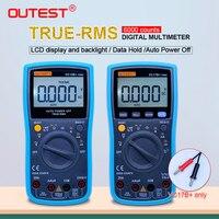 OUTEST Digital Multimeter True RMS 6000 Counts Auto range AC/DC Ammeter Voltmeter Ohm Portable Meter voltage meter