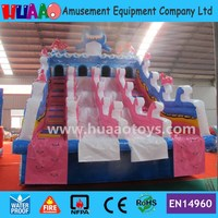 2017 New Giant Shark Inflatable Water Slide to Pool