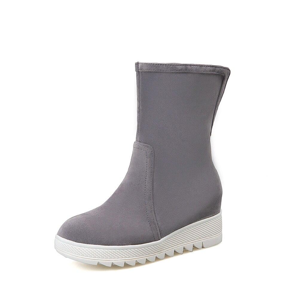 2018 Chaussures Neige noir Beige Cheville Des Bottes Femmes Les gris Femme Élèves Casual Mode Plates Nouveau De jaune Chaude D'hiver xAvFq0xrBw