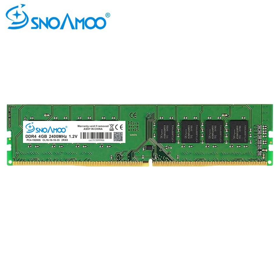 купить SNOAMOO RAM DDR4 4GB 2400MHz 1516 PC-19200S 1.2V 1Rx8 288Pin 8GB 2133MHz SODIMM RAM For Intel Desktop Memory Stick Compatible PC по цене 3235.32 рублей