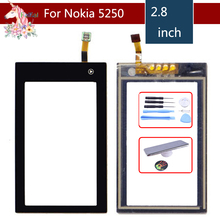 High Quality 2.8 For Nokia 5250 N5250 Touch Screen Digitizer Sensor Outer Glass Lens Panel Replacement 3 5 for nokia n8 n 8 lcd touch screen digitizer sensor outer glass lens panel replacement