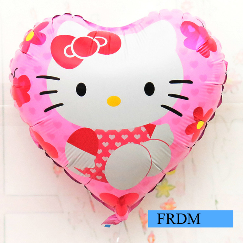 18inch Foil Balloons Hello Kitty Cat Toys Baloon Children Birthday Party Decoration Supplies Wedding