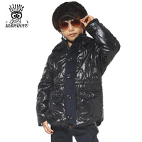 Size 120 160 New Fashion Children Winterproof Casual Style Potyester Material Boys Popular Coats Black Khaki