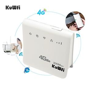 Image 4 - Desbloqueado 300mbps wifi roteador 4g lte cpe roteador móvel sem fio com lan porta sim cartão solt