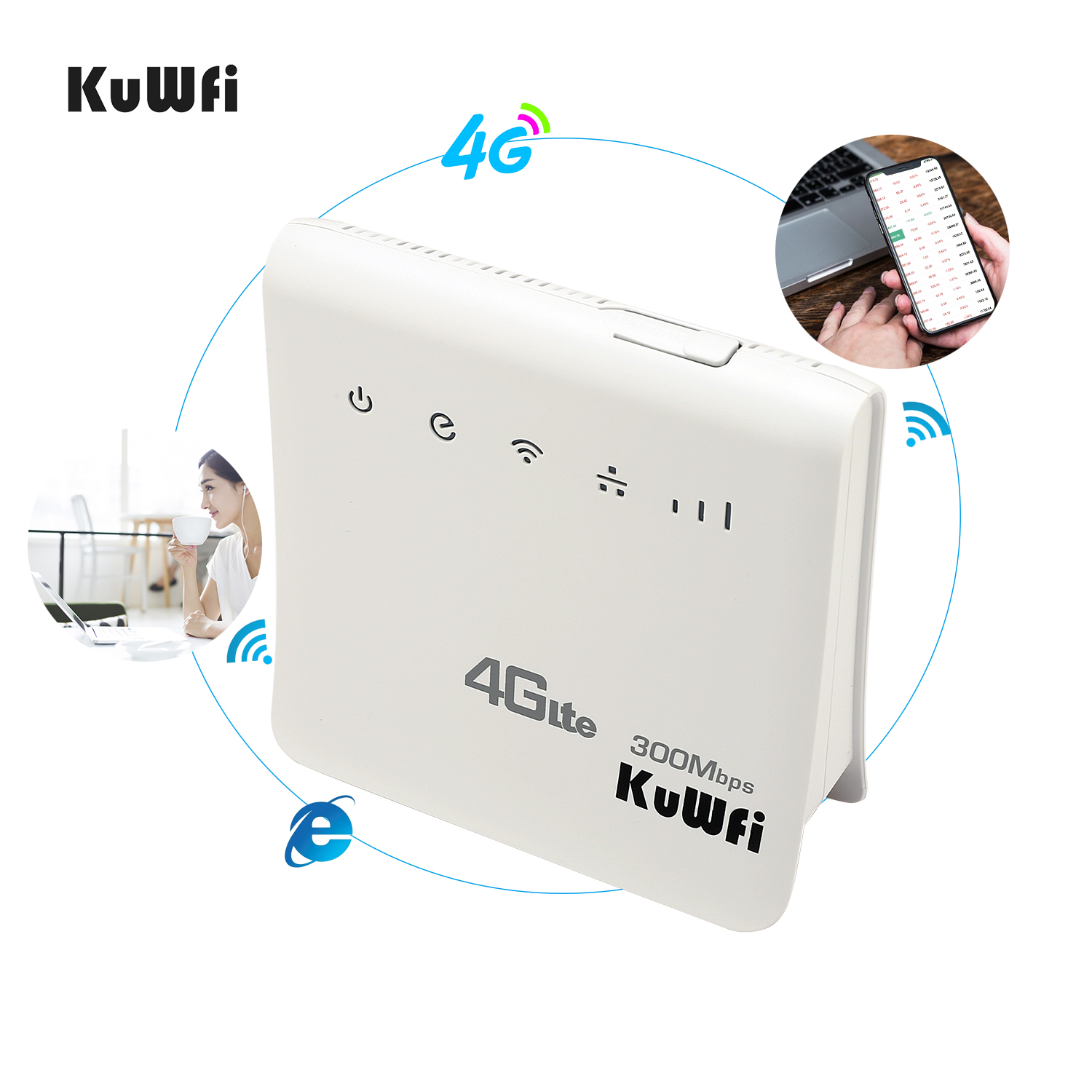 Image 4 - Unlocked 300Mbps Wifi Router 4G LTE CPE Wireless Mobile Router With LAN Port SIM Card Solt Support B1/B3/B5/B8 B38/B39/B40/41-in 3G/4G Routers from Computer & Office