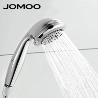 JOMOO Round Five Function Hand Hold ABS Plastic Shower Head Chrome Finish Hand Shower S02015 2C11