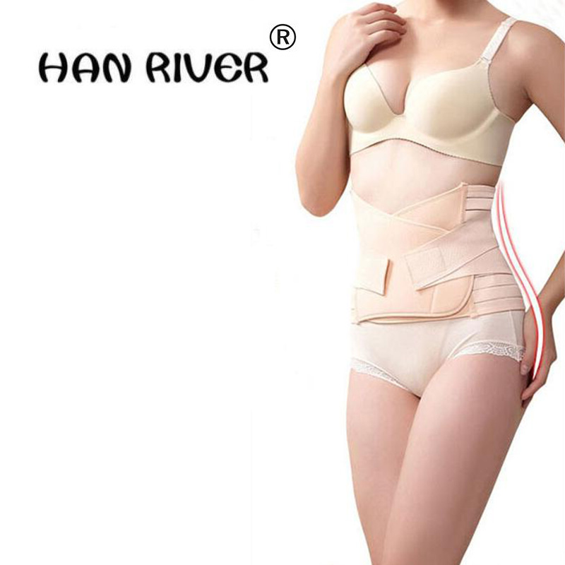 Health slimming products reduced fat breathable and comfortable postpartum abdomen with a bandage