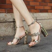 Женские босоножки на высоком каблуке повседневные сандалии золотого