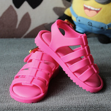 2017 nouveau automne bébé filles pvc sandales en cuir pour enfants mode rose sandales enfants sandales romaines garçons Creux sandales appartements