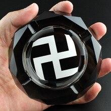 Traditionellen chinesischen Kultur Taoismus Bagua Religiöse Derivate Geschenk Taoists Hakenkreuz Die Acht Trigrams Runde Kristall Aschenbecher