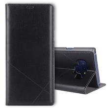FDCWTS Virar Capa de Couro Caso de Telefone Carteira para Samsung Nota Galáxia SM 9 N960 N960F SM N960 SM N960F Sansung Samsumg Samsun