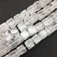 New Arrival Natural Stone Rock Crystal Cube Bead 12x12 Mm Loose Spacer Bead DIY Jewelry Making