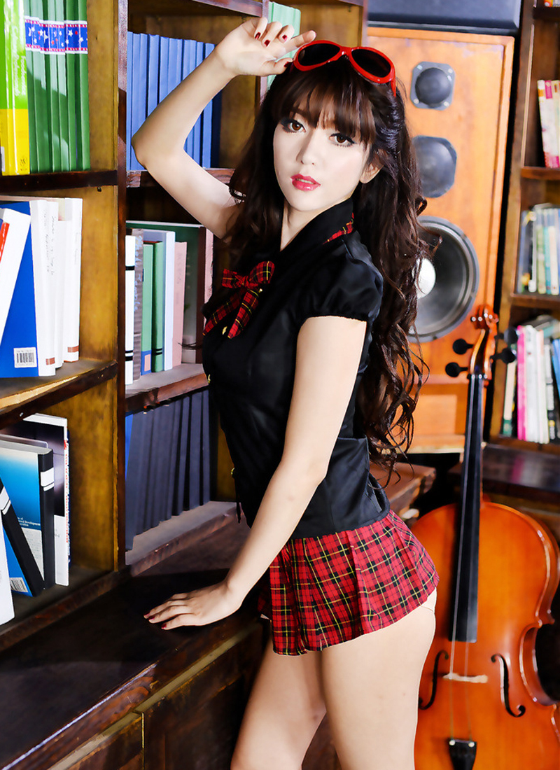 2015 Cheap Womens Sexy Lingeries / Cute Girls School Uniform Top + ...