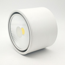 Surface mounted dimmable white/black led COB downlight 7W/10W/15W/20W led lamp ceiling AC85-265V spot light все цены