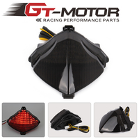 GT Motor Motorcycle LED Rear Turn Signal Tail Stop Light Lamps Integrated For Yamaha YZF R1