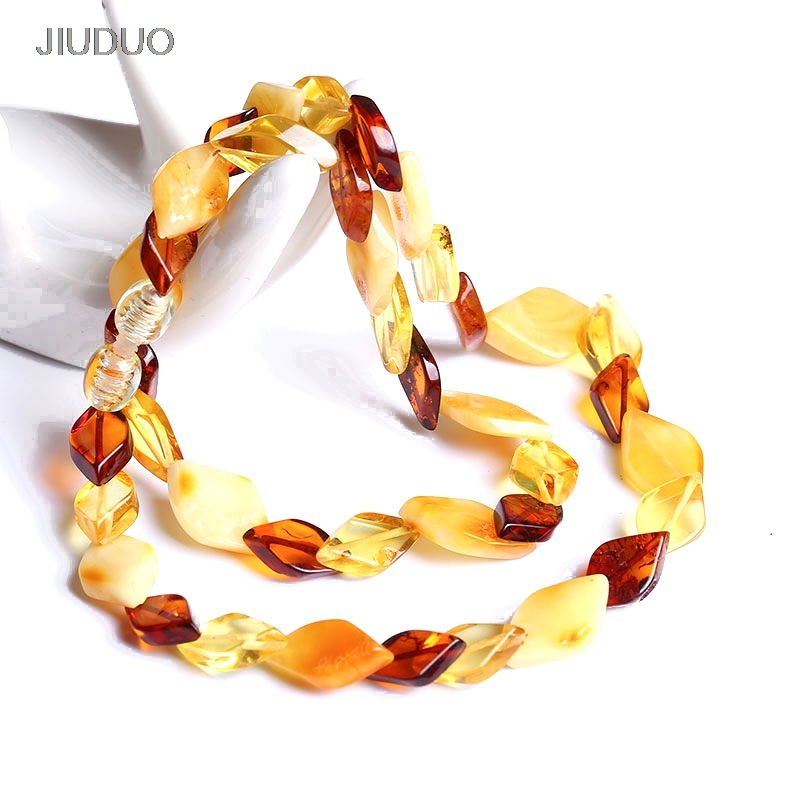 Popular natural amber necklace for women luxury amber necklaces Precious jewelry factory direct special package mail menghai brick tea pu er 250 grams of carton packaging special package mail s665