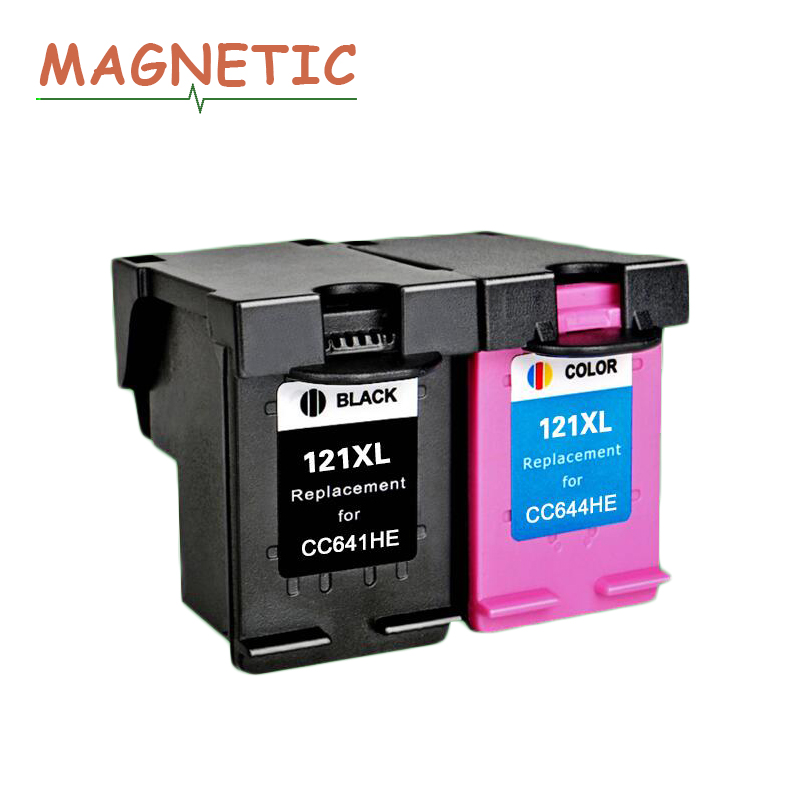 Magnetic compatible ink cartridge for hp121 for hp 121 photosmart c4683 C4783 Deskjet D2563 D1663 5563 F2530 F2545 F2560 printer new arrival women luxury brand small flap bag designer split leather women messenger bag lady chain crossbody bag bolsa sac