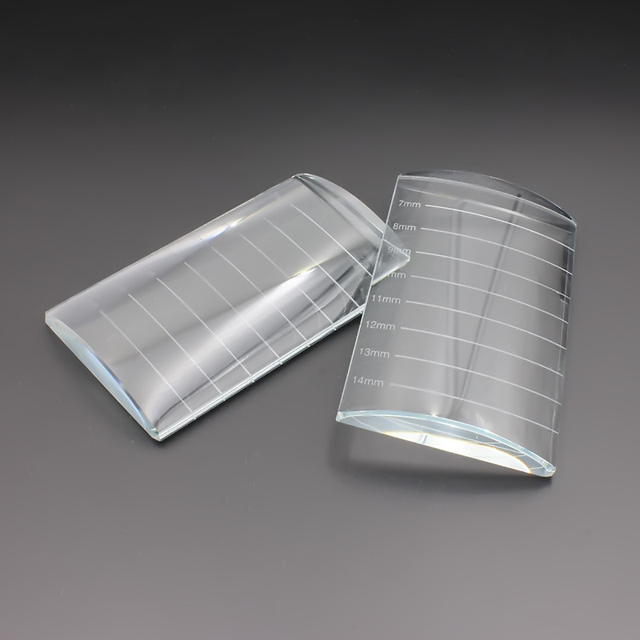 CM tamaño impresión pestañas extensión herramienta forma de U Cristal de vidrio pegamento piedra de cristal para la extensión de las pestañas