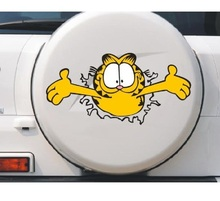 цена на 1PC 18*9CM Funny Lovely Garfield Cat Animal Anime Cartoon Car-Styling Motorcycle Car Stickers And Decals Exterior Accessories