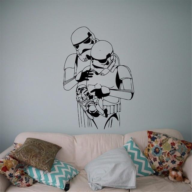stormtrooper baby familie wandtattoo star wars vinyl. Black Bedroom Furniture Sets. Home Design Ideas
